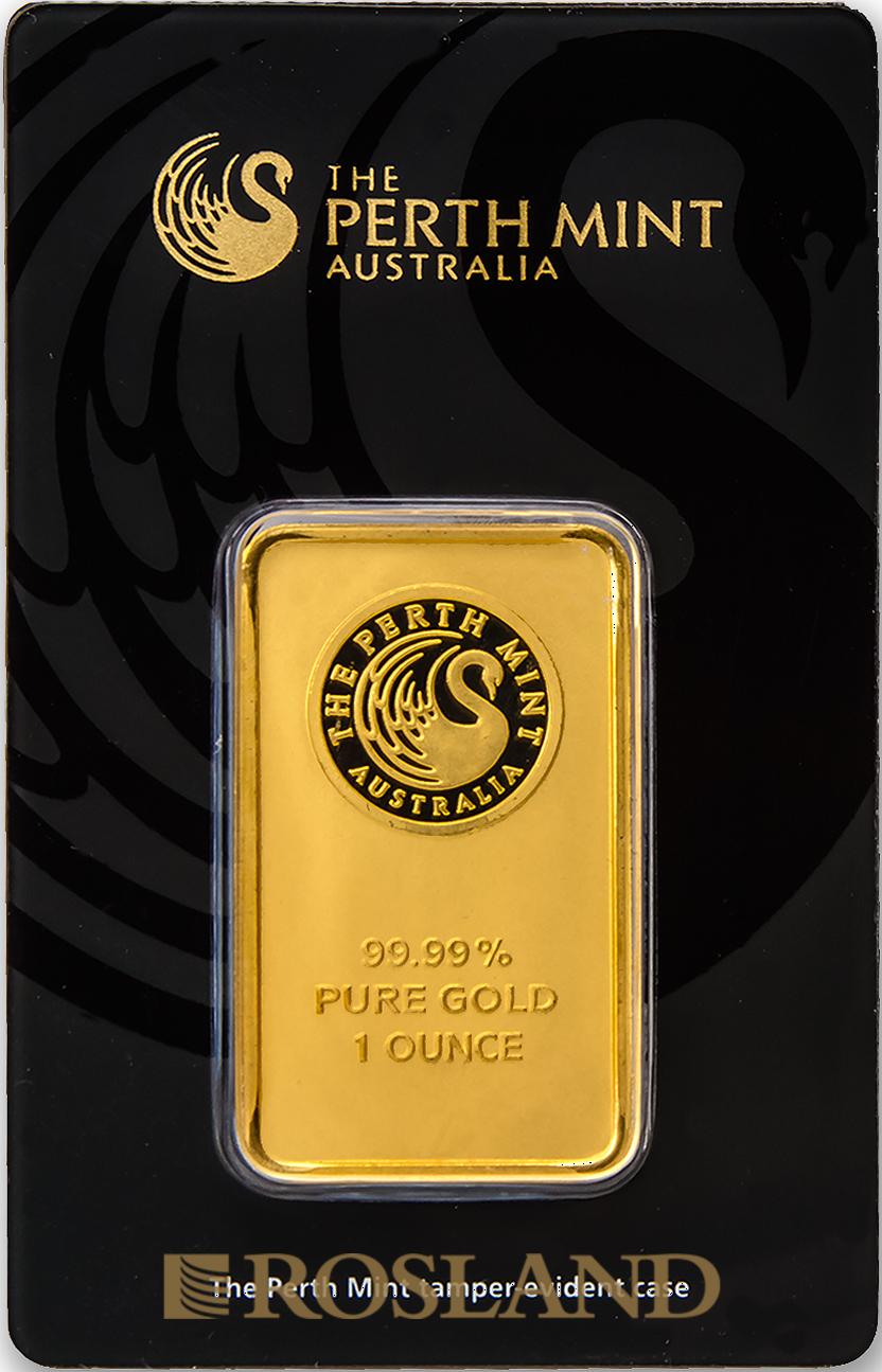 1 Unze Goldbarren Perth Mint Schwan Design