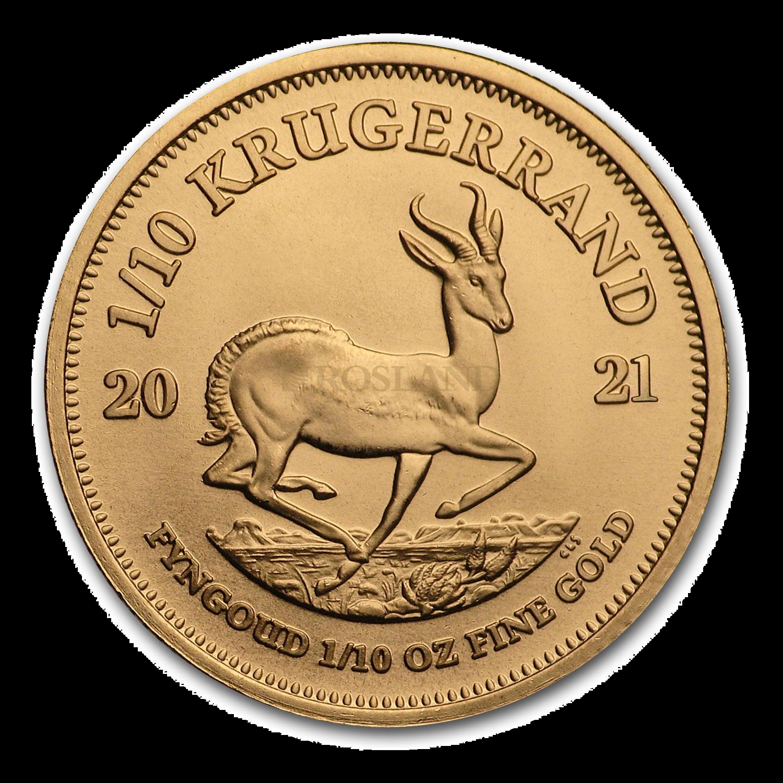 1/10 Unze Goldmünze Krügerrand 2021