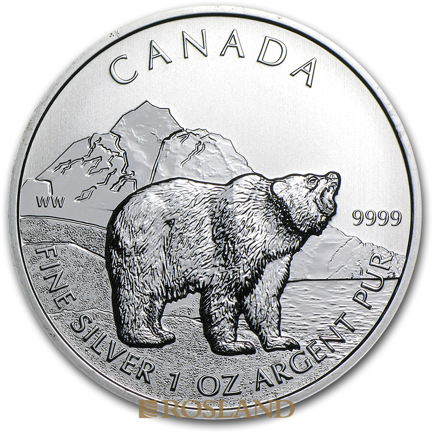 1 Unze Silbermünze Wildlife Grizzlybär 2011