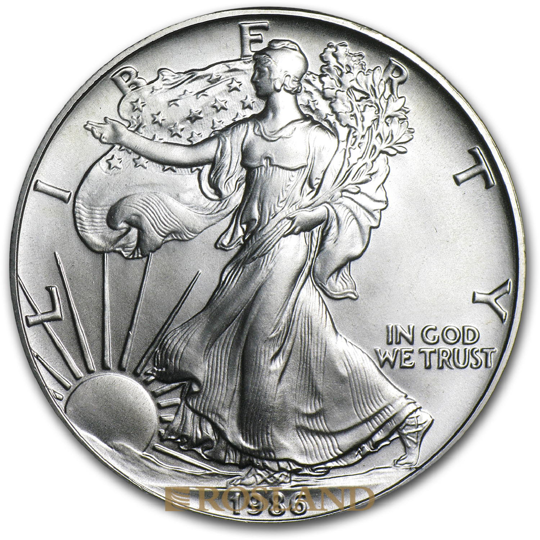 1 Unze Silbermünze American Eagle 1986