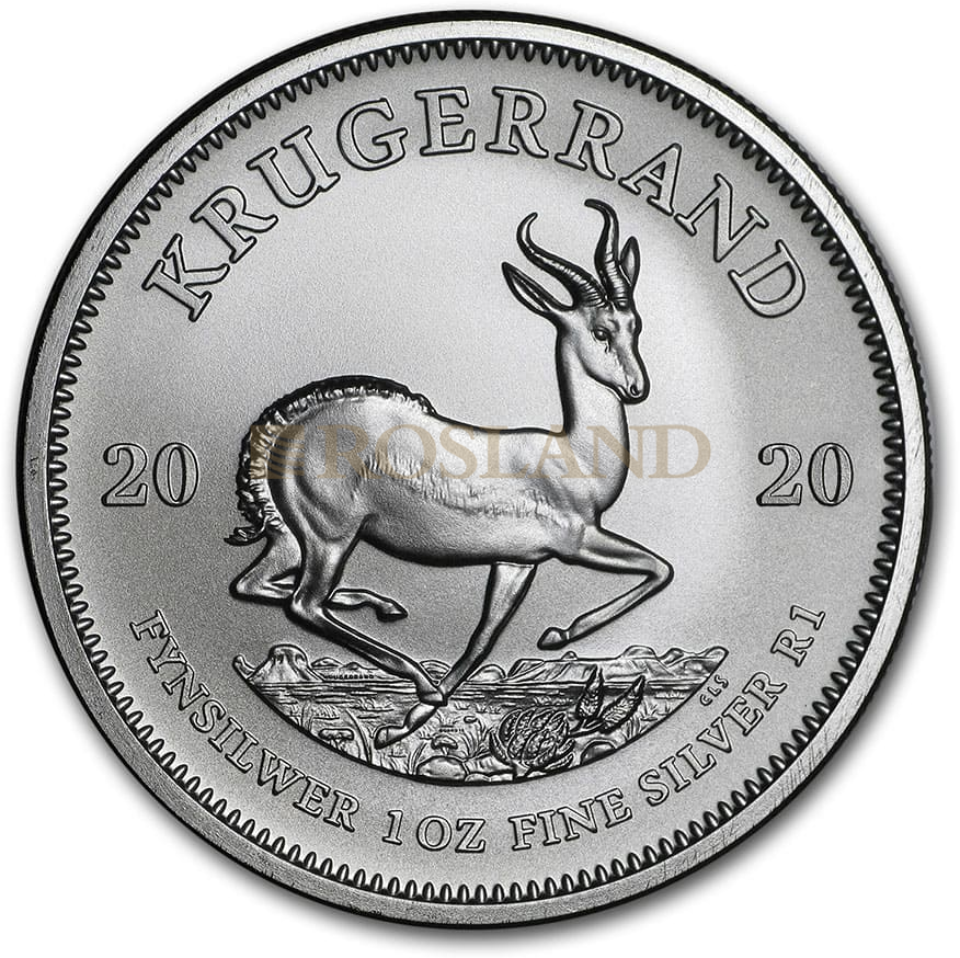 1 Unze Silbermünze Krügerrand 2020