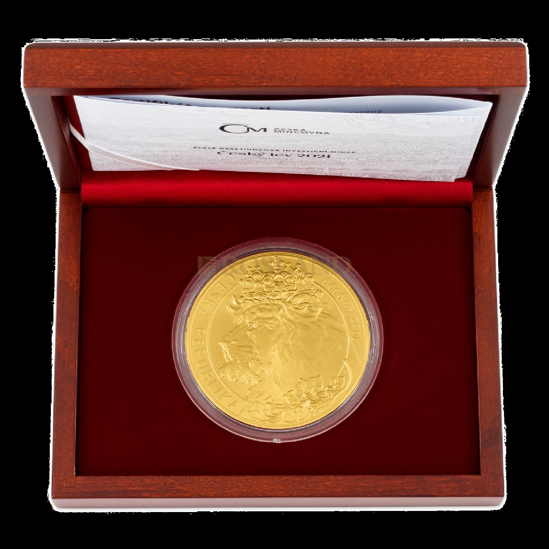10 Unzen Goldmünze Tschechischer Löwe 2021 (Box, Zertifikat)