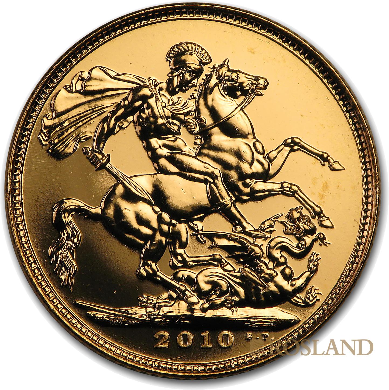 1 Sovereign Goldmünze Großbritannien 2010