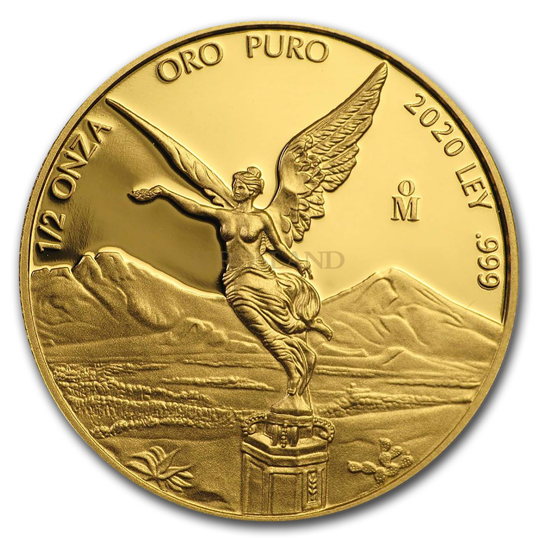 1/2 Unze Goldmünze Mexican Libertad 2020 PP