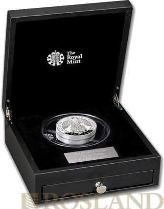10 Unzen Silbermünze Queens Beasts Falcon 2019 PP (Box, Zertifikat)