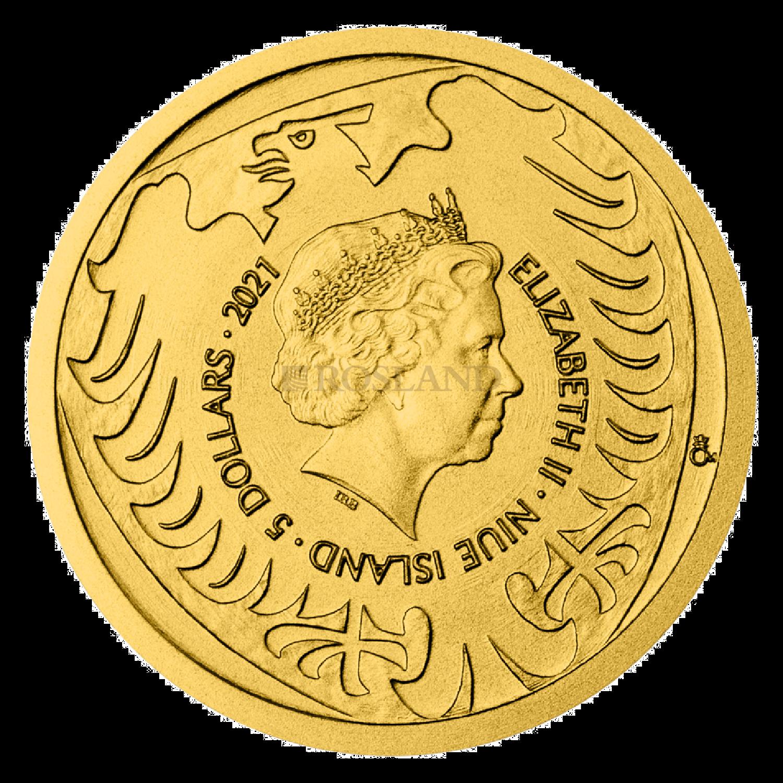 1/25 Unzen Goldmünze Tschechischer Löwe 2021