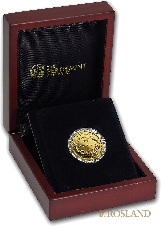 1 Sovereign Goldmünze Australien 2018 PP (Box, Zertifikat)