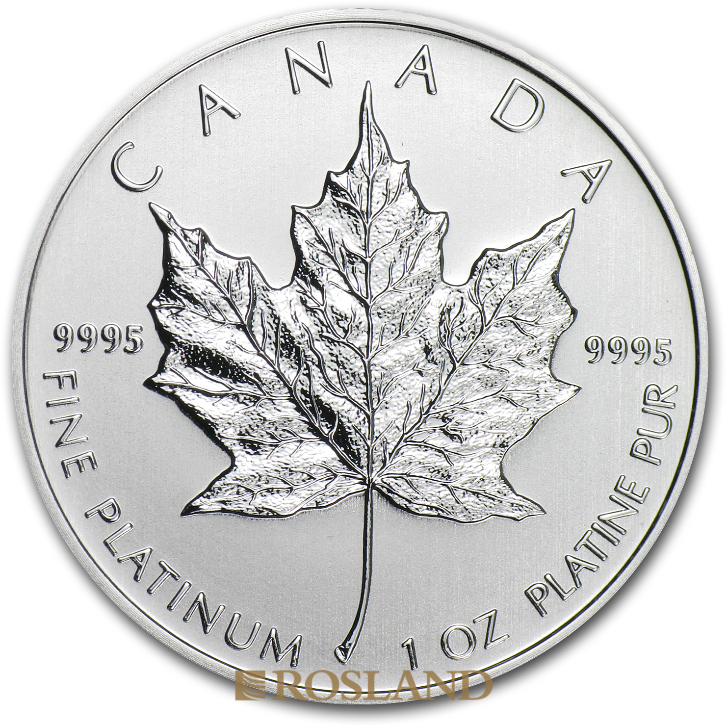 1 Unze Platinmünze Kanada Maple Leaf 2013
