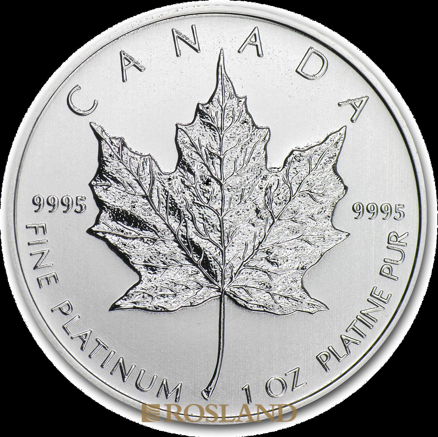 1 Unze Platinmünze Kanada Maple Leaf 2013
