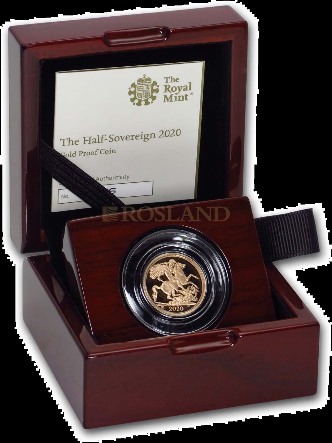 1/2 Sovereign Goldmünze Großbritannien 2020 PP (Box, Zertifikat)