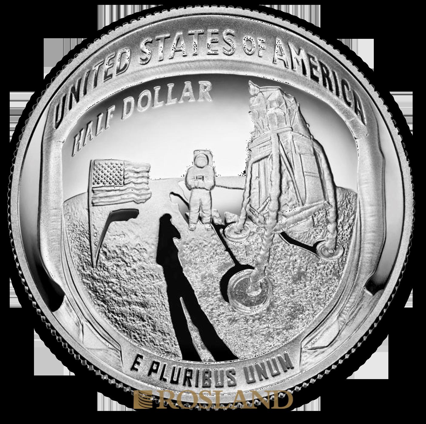 1 Unze 2 Münzen RAM/US Mint Apollo 11 Mondlandung Set 2019 PP (Box, Zertifikat)