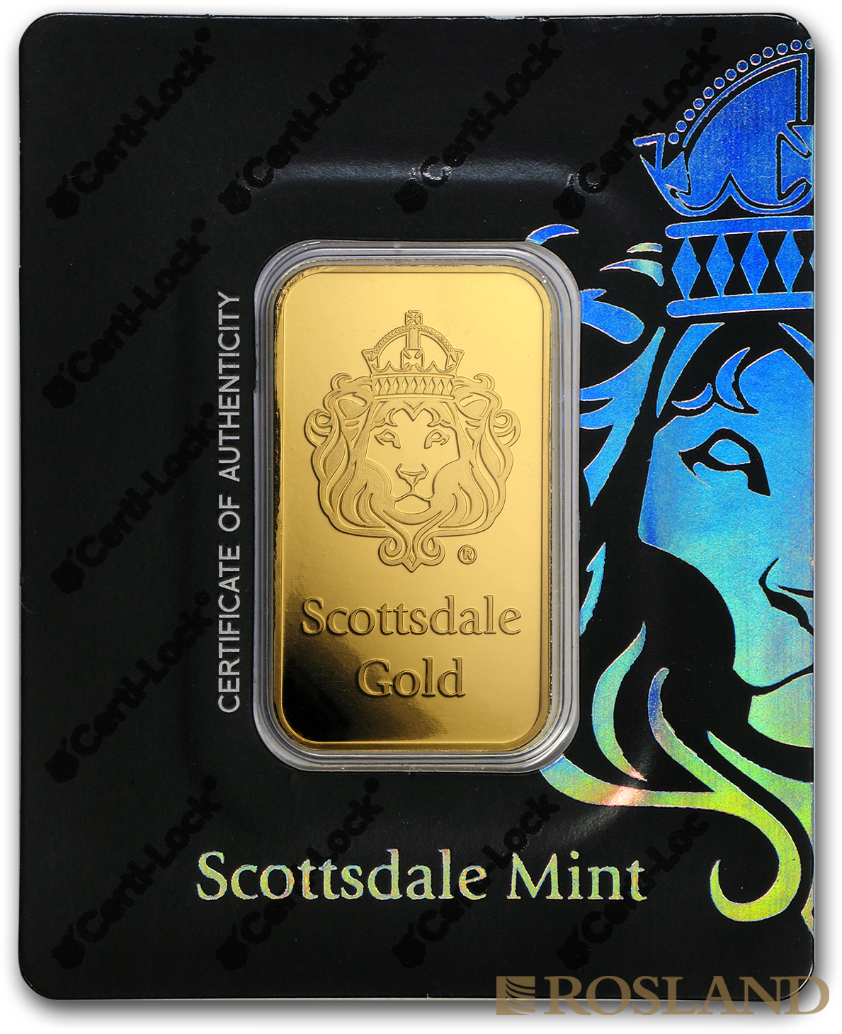 1 Unze Goldbarren Scottsdale Mint Löwe