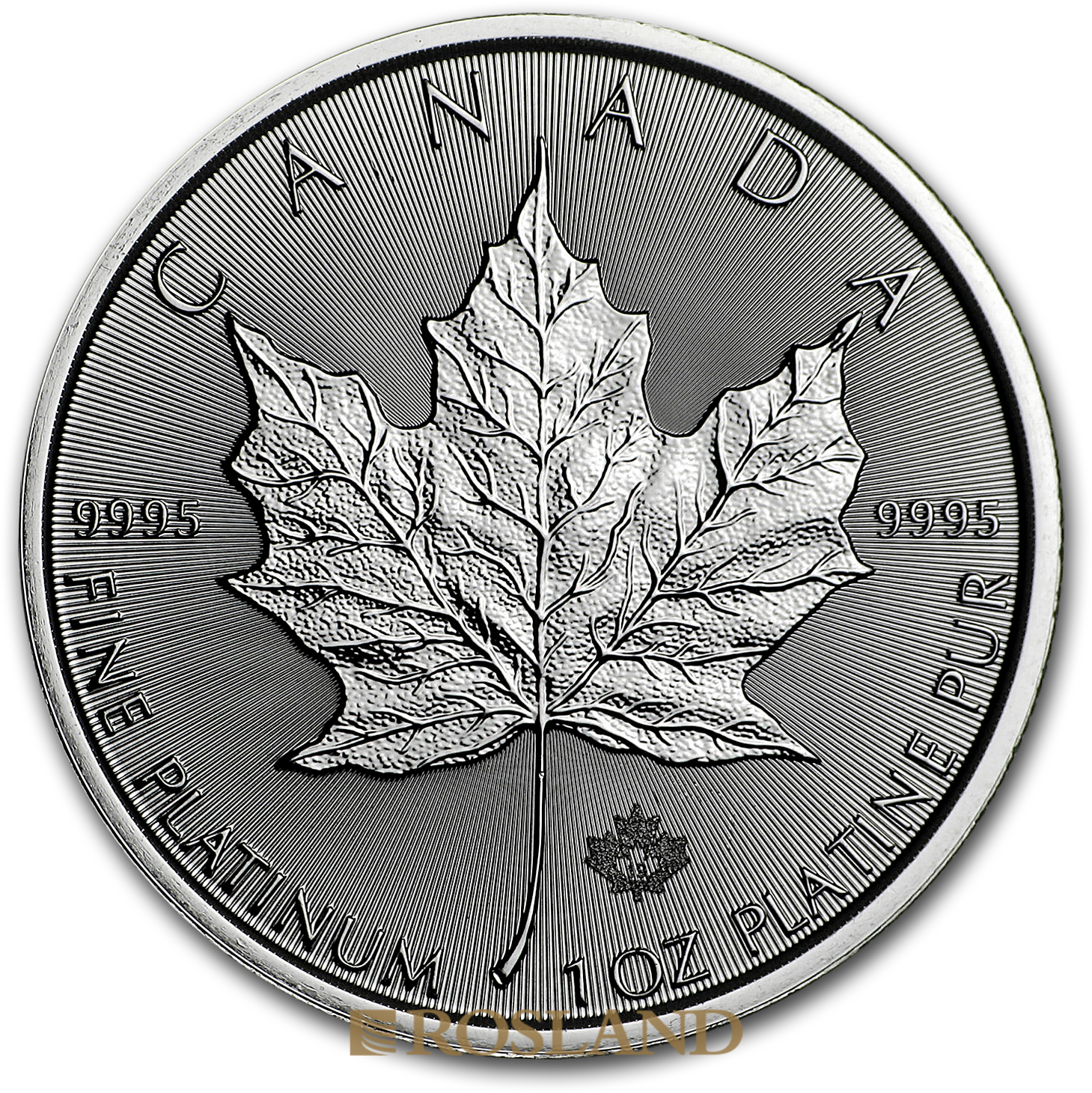 1 Unze Platinmünze Kanada Maple Leaf 2019