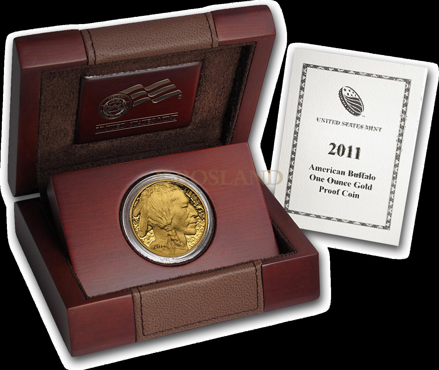 1 Unze Goldmünze American Buffalo 2011 PP (Box, Zertifikat)