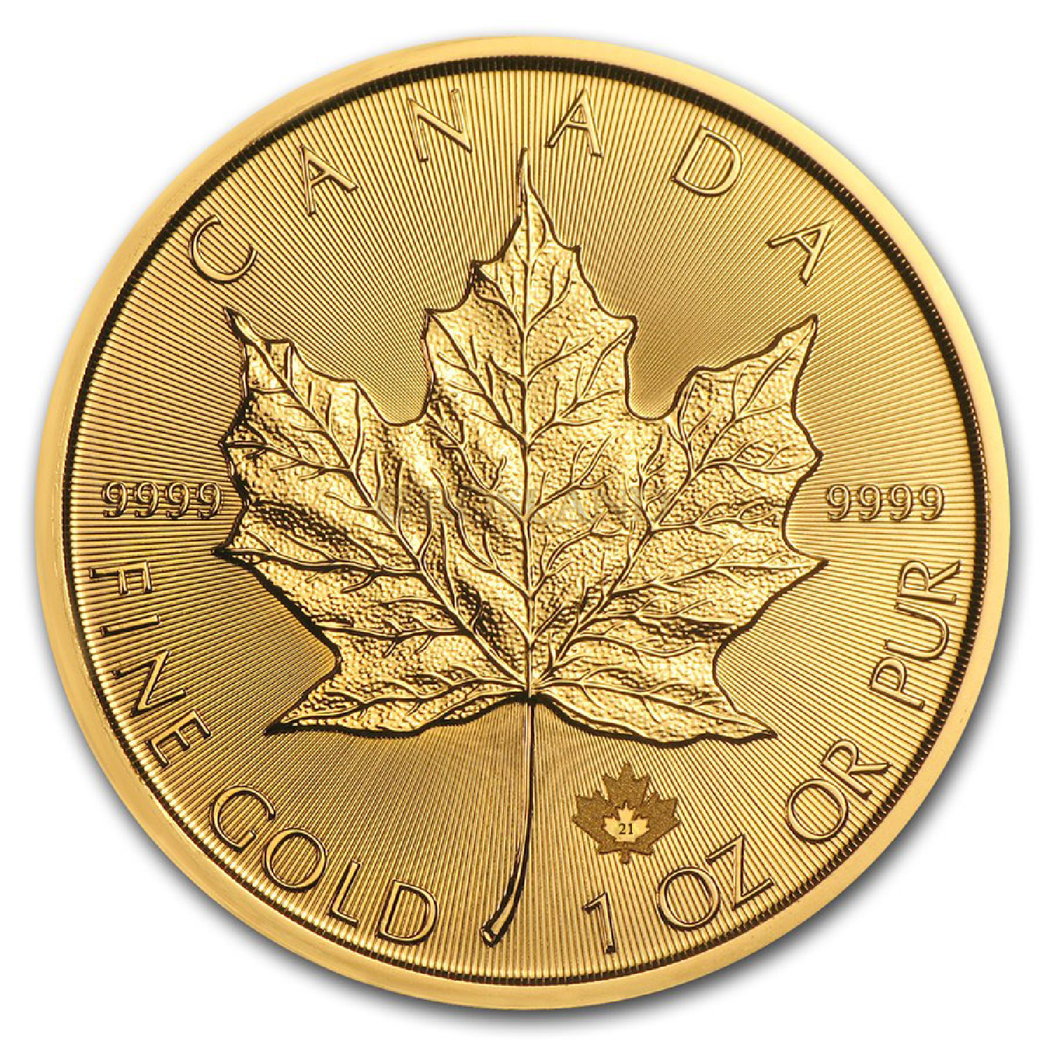 1 Unze Goldmünze Kanada Maple Leaf 2021