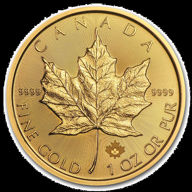 1 Unze Goldmünze Kanada Maple Leaf 2021