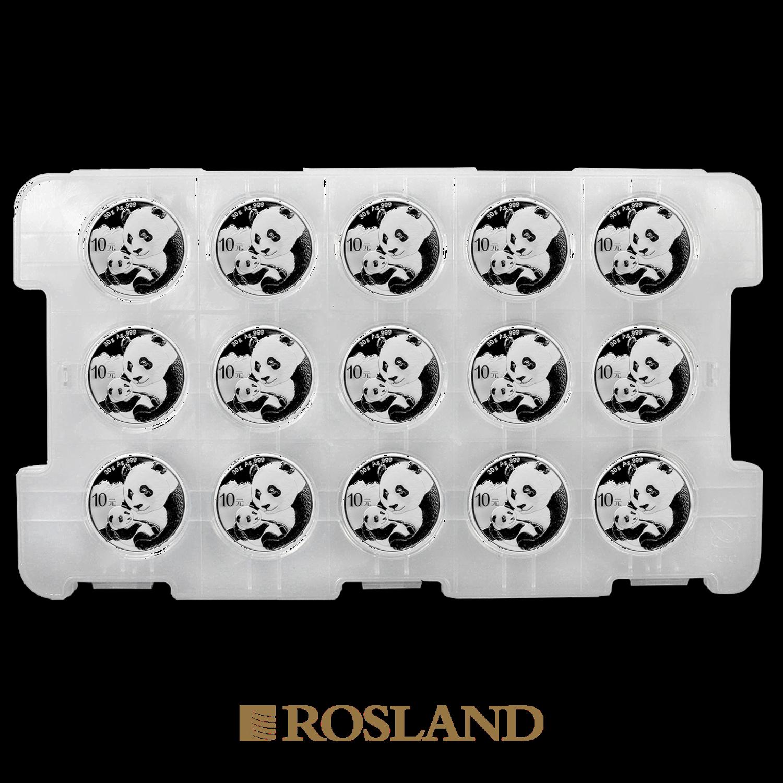 30 Gramm Silbermünze China Panda 2019