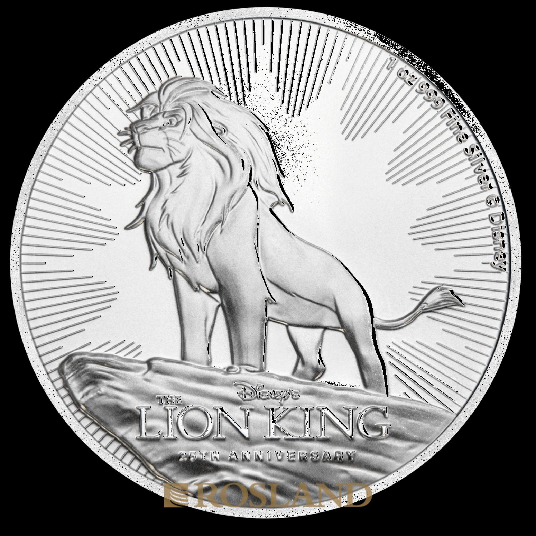 1 Unze Silbermünze Disney® 25 Jahre König der Löwen 2019