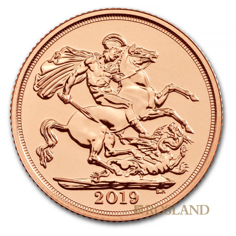 1 Sovereign Goldmünze Großbritannien 2019
