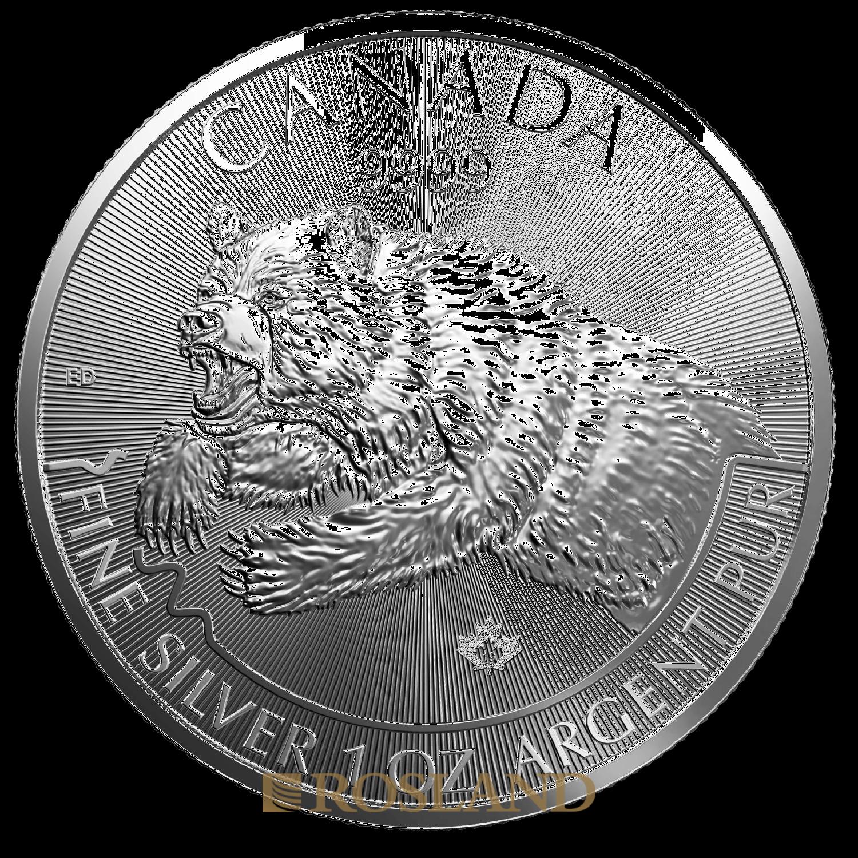 1 Unze Silbermünze Kanada Predator Grizzly 2019