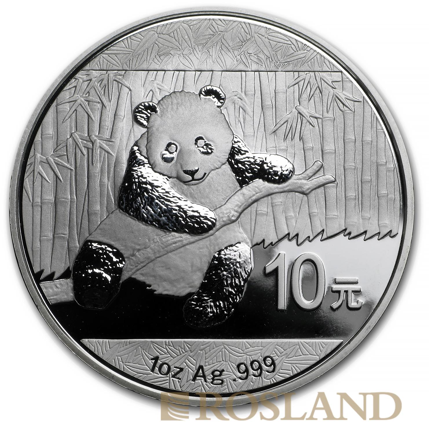 1 Unze Silbermünze China Panda 2014