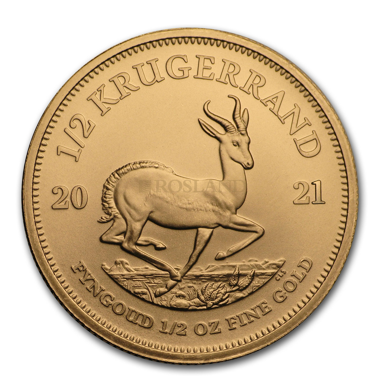 1/2 Unze Goldmünze Krügerrand 2021