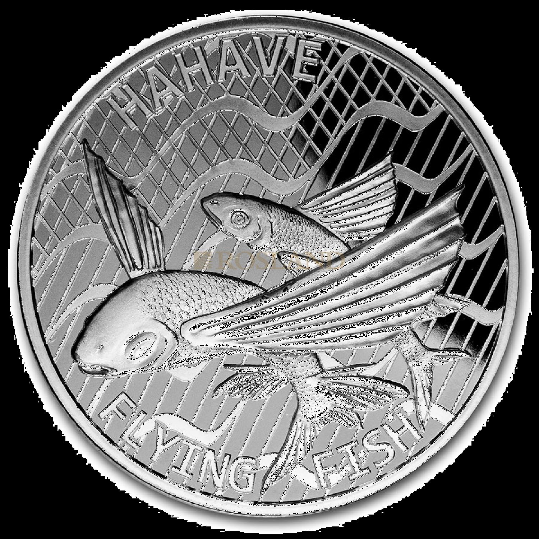 1 Unze Silbermünze Tokelau Flying Fish 2020