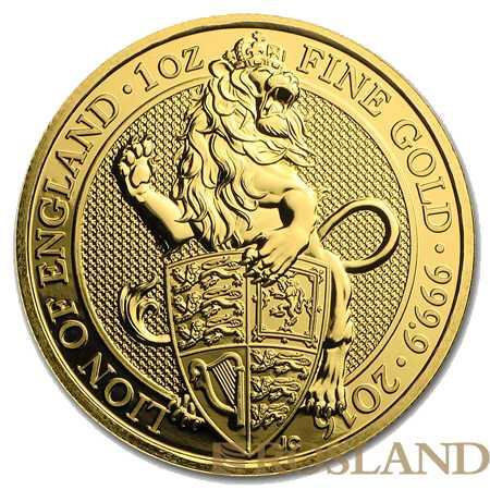 1 Unze Goldmünze Queens Beasts Lion 2016