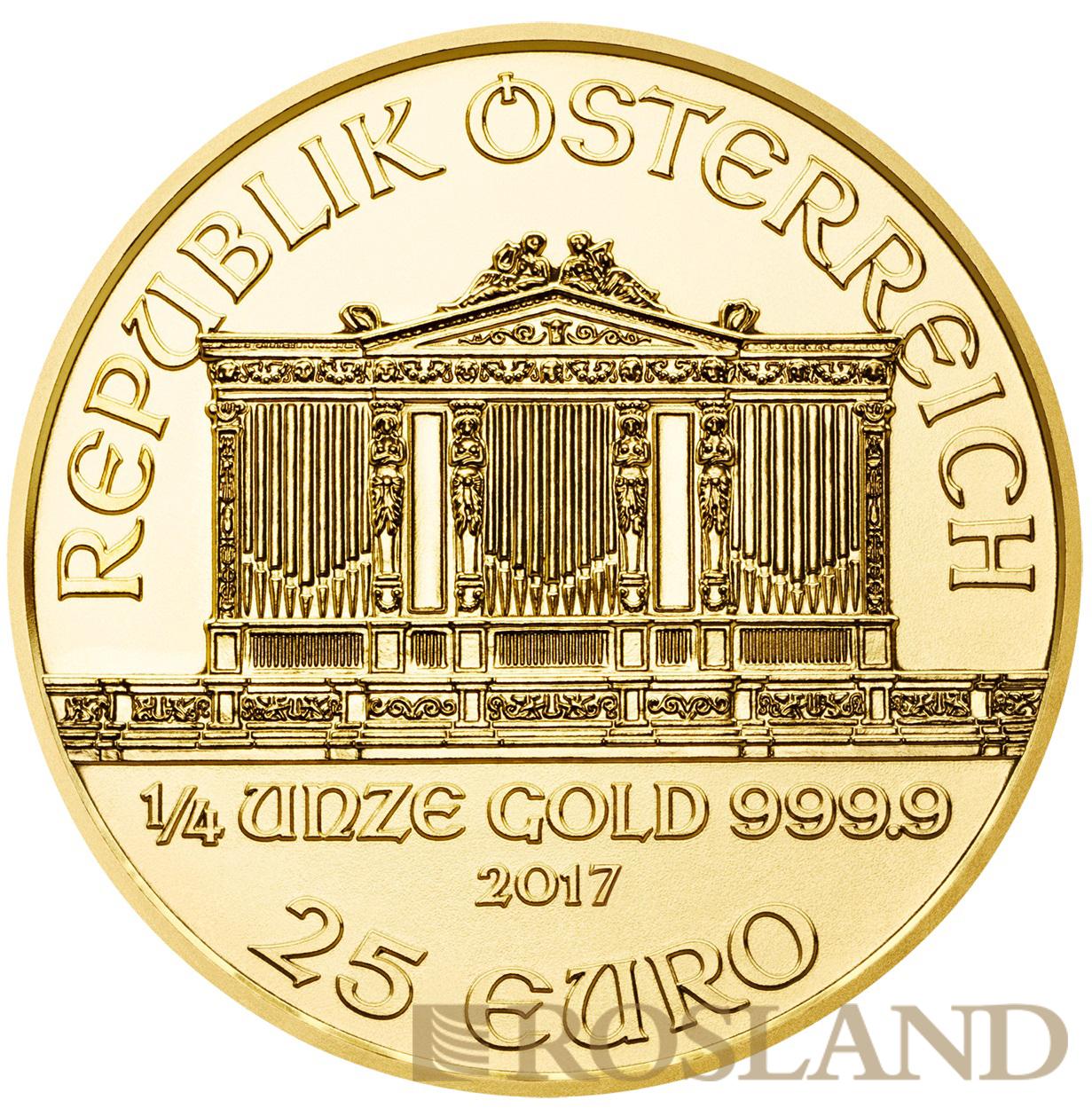 1/4 Unze Goldmünze Wiener Philharmoniker 2017