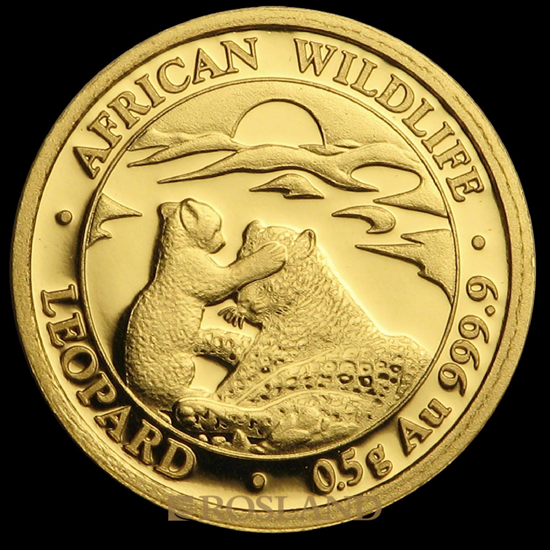 1/2 Gramm Goldmünze Somalia Leopard 2019