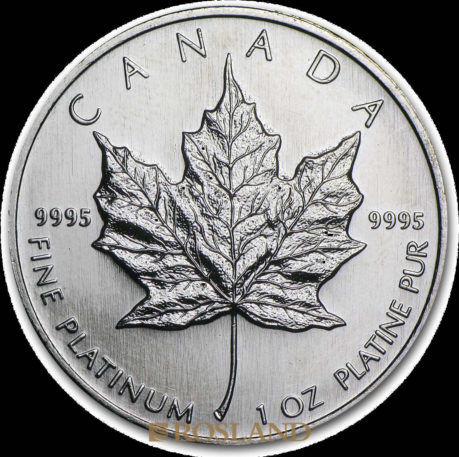 1 Unze Platinmünze Kanada Maple Leaf 1996