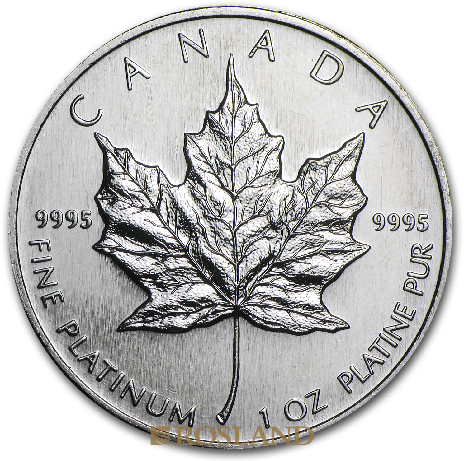 1 Unze Platinmünze Kanada Maple Leaf 1996