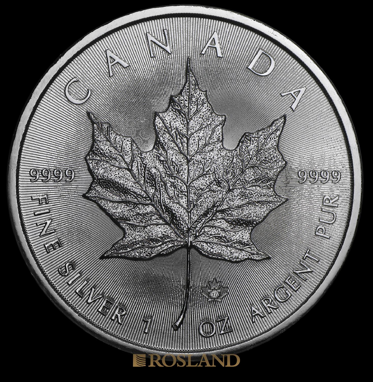 1 Unze Silbermünze Kanada Maple Leaf 2017