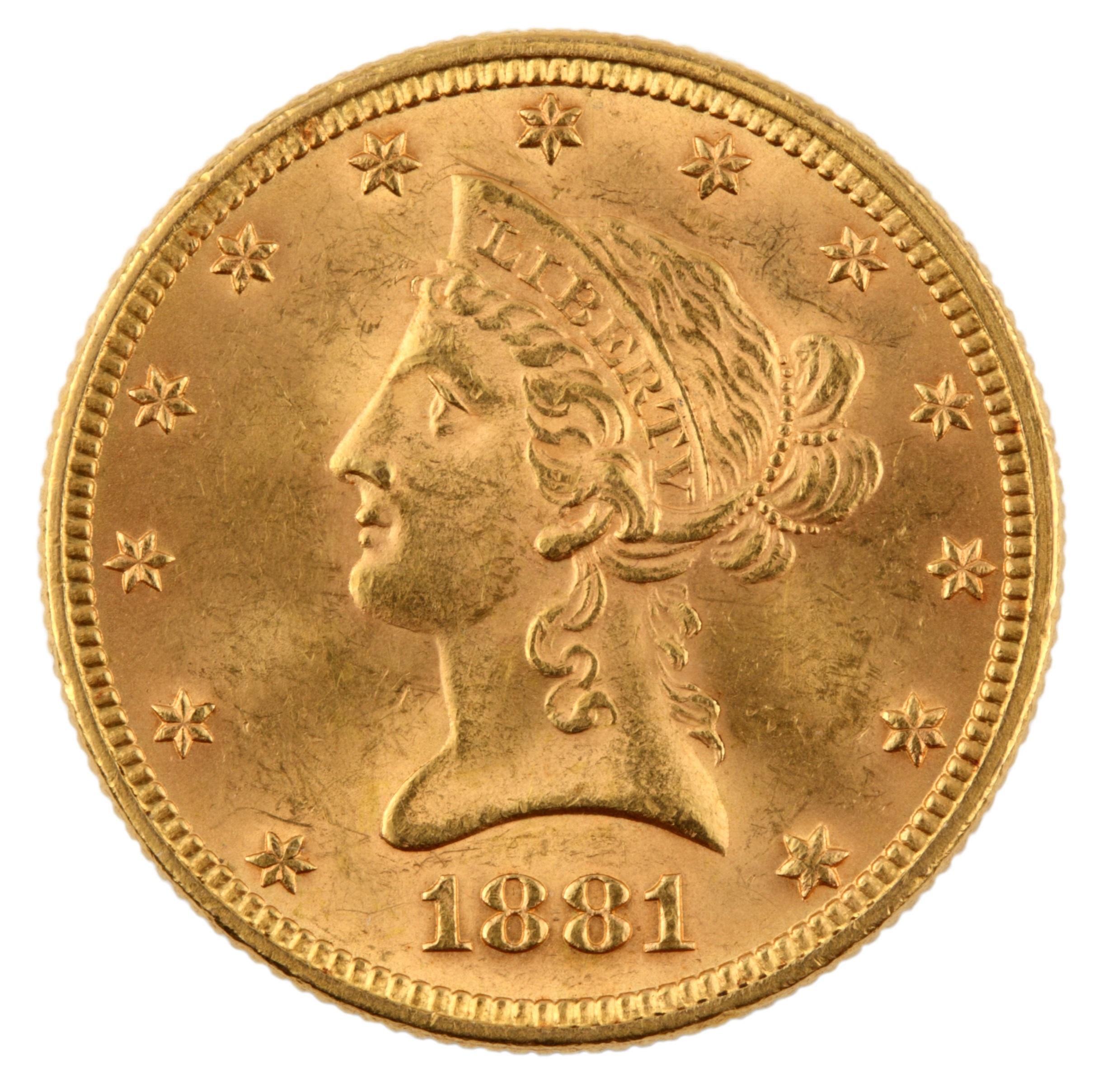 $10 Liberty Head 1838-1907