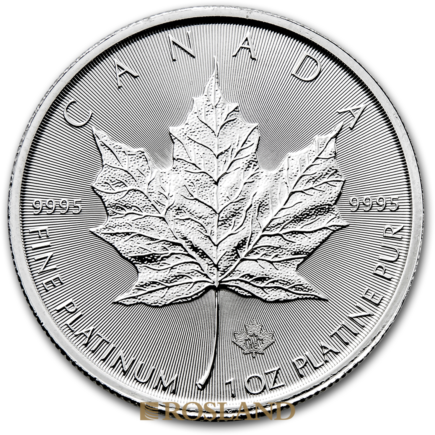 1 Unze Platinmünze Kanada Maple Leaf 2016