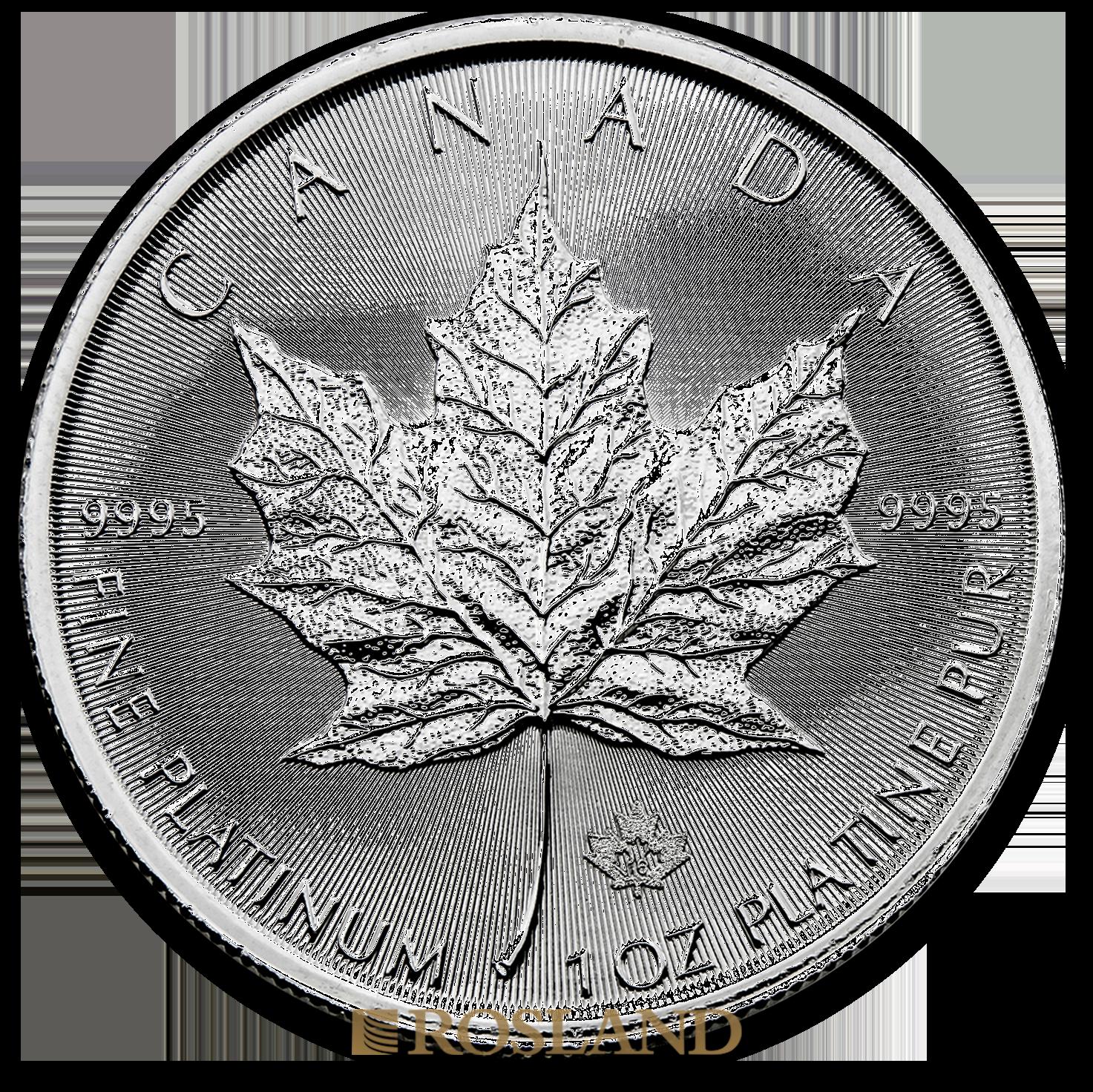 1 Unze Platinmünze Kanada Maple Leaf 2016