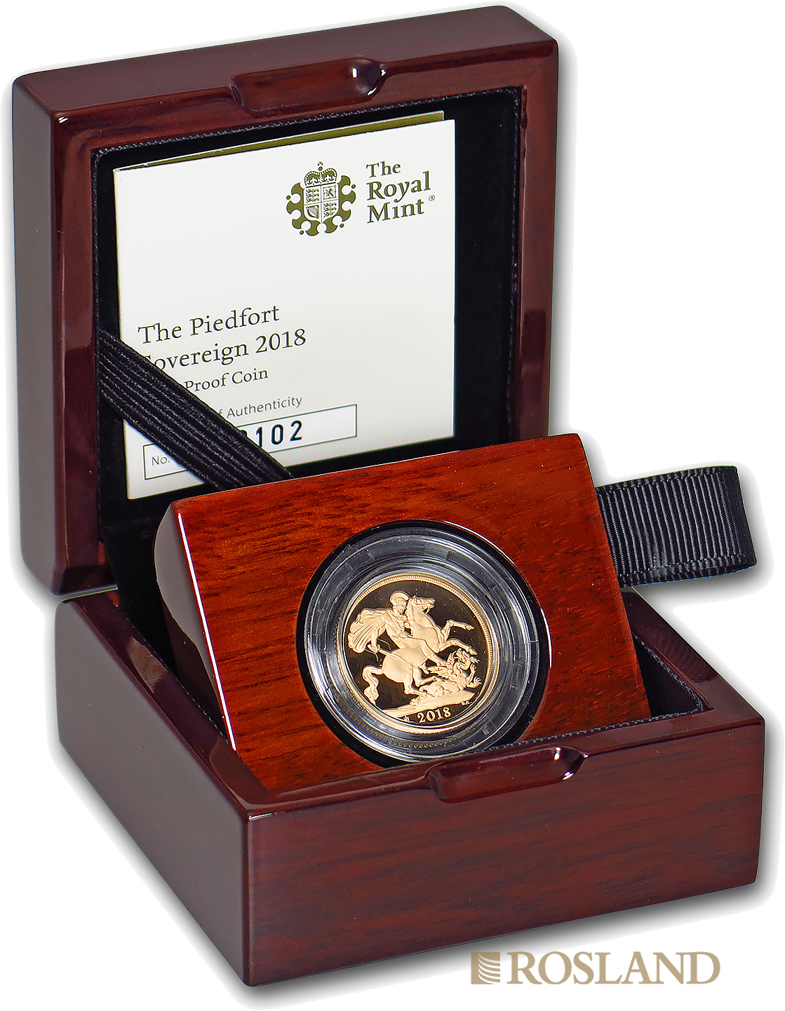 1 Sovereign Goldmünze Großbritannien 2018 (0.47 Unzen) PP Piedfort