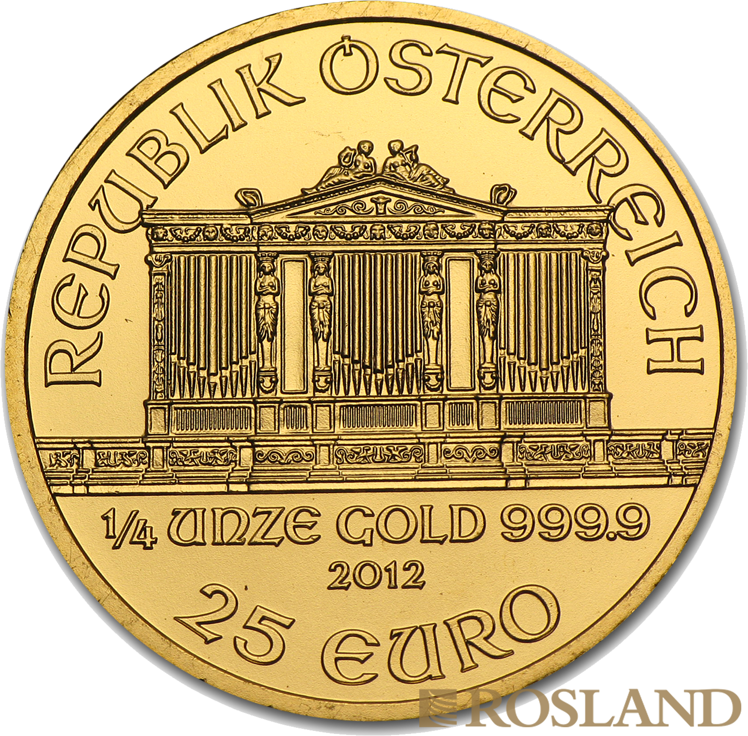 1/4 Unze Goldmünze Wiener Philharmoniker 2012