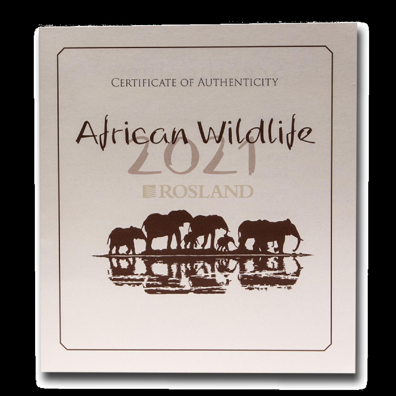 5 Unzen Goldmünze Somalia Elefant 2021 PP (Box, Zertifikat)