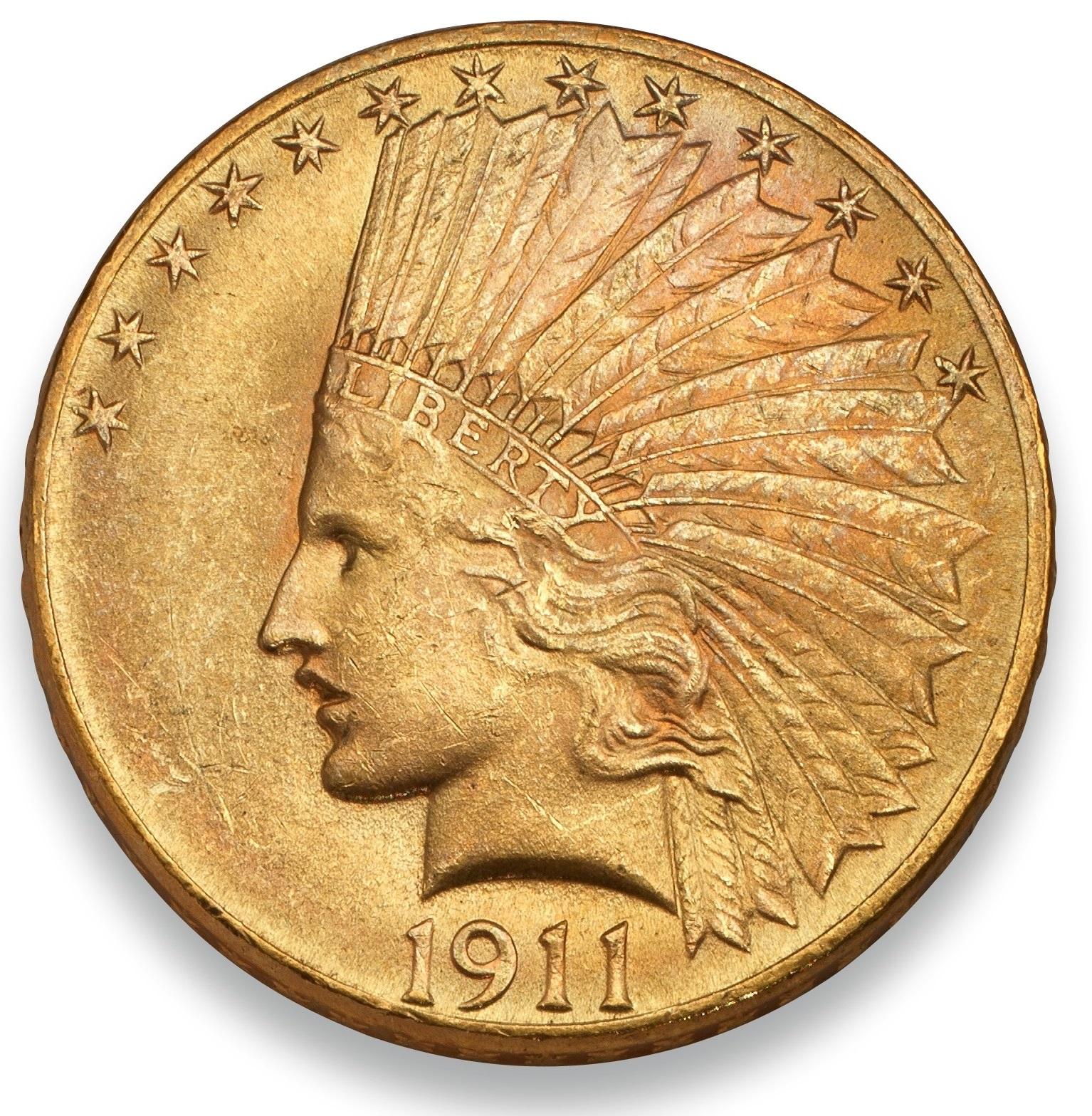 $10 Indian Head 1907-1933