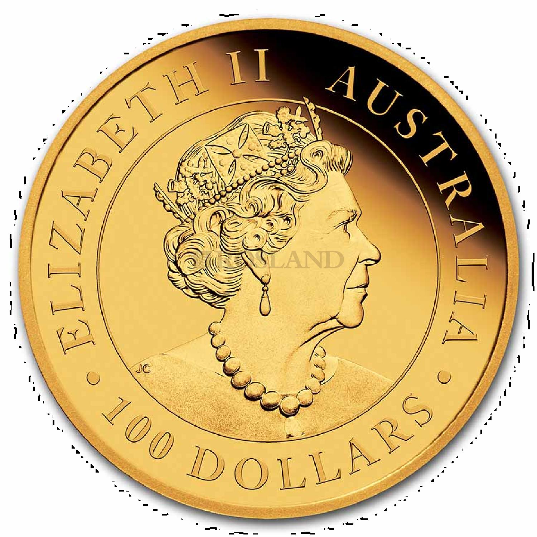 1 Unze Goldmünze Perth Mint Brumby Pferd 2021 PP (Box, Zertifikat)