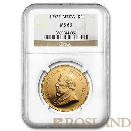 1 Unze Goldmünze Krügerrand 1967 MS-66 NGC