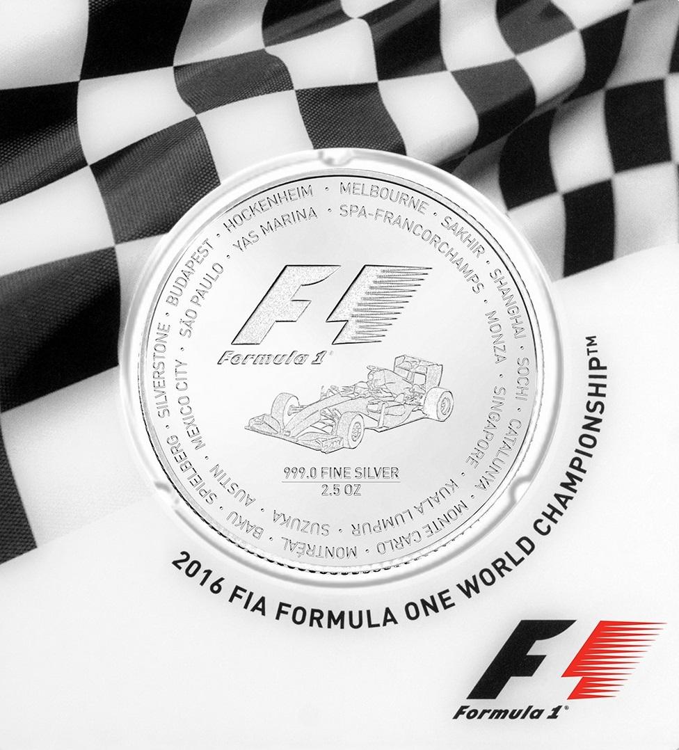2,5 Unzen Silbermünze Formel 1® 2017 PP (Box, Zertifikat)