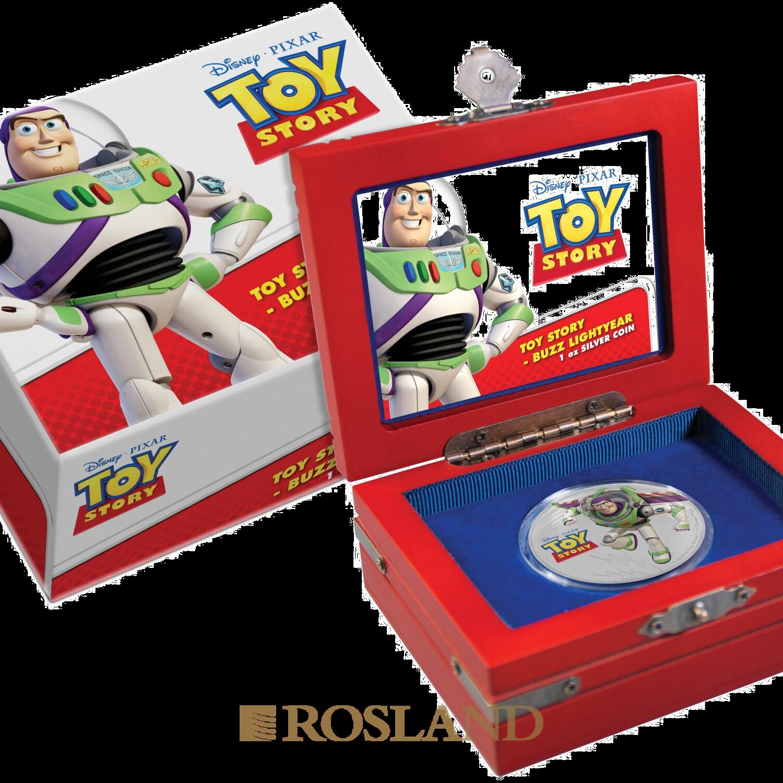 1 Unze Silbermünze Niue Toy Story Buzz Lightyear 2018 (Koloriert, Box)