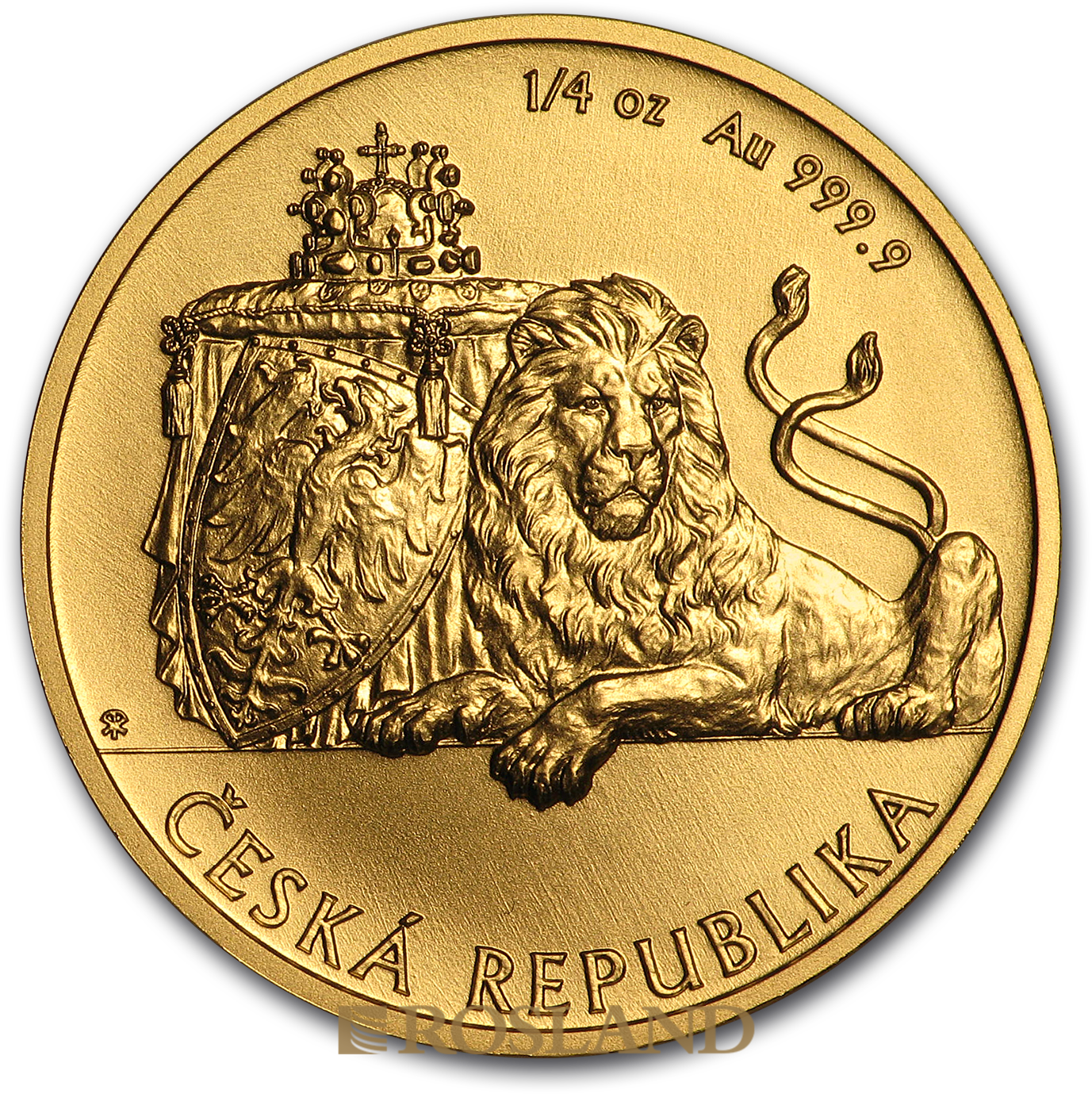 1/4 Unzen Goldmünze Tschechischer Löwe 2019