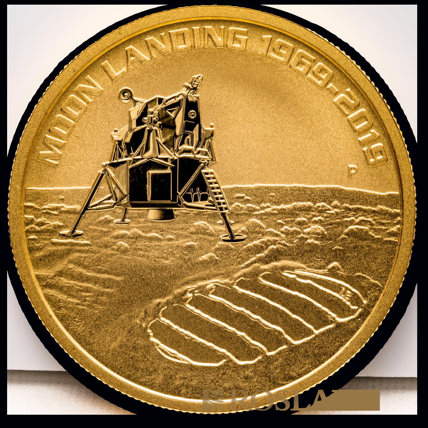 1 Unze Goldmünze Landung zum Mond 50 Jahre Jubiläum 2019