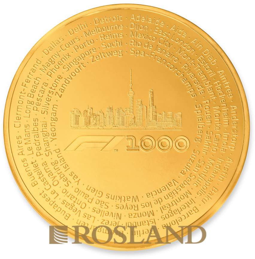 1 Kilogramm Goldmünze Formel 1® 1000 2019 PP (Box, Zertifikat)