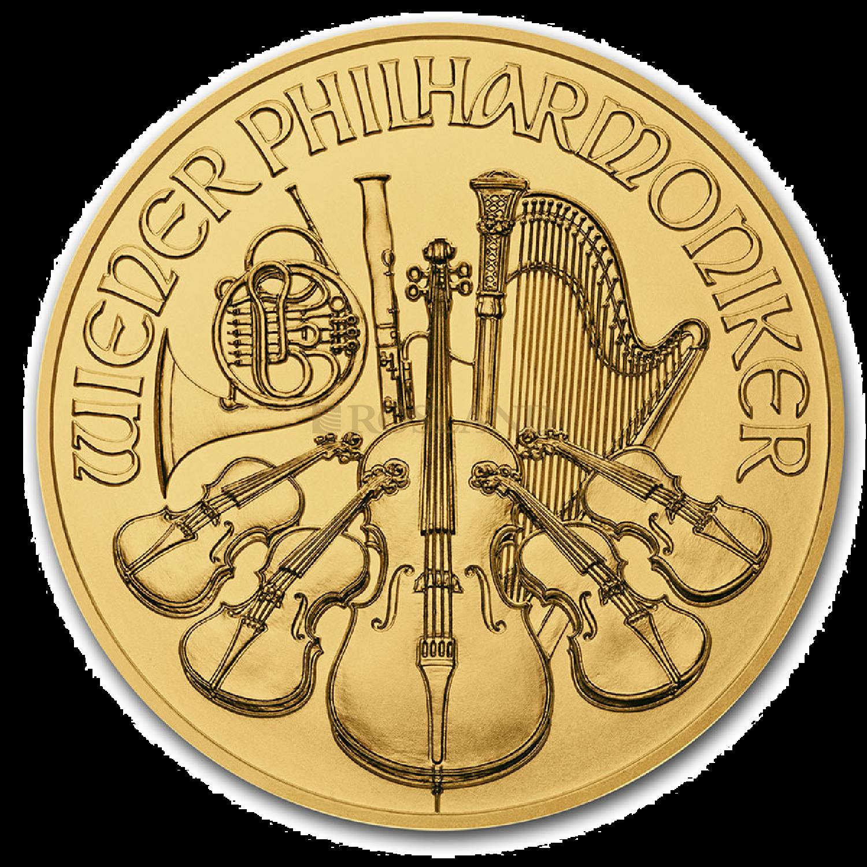 1/25 Unze Goldmünze Wiener Philharmoniker 2021