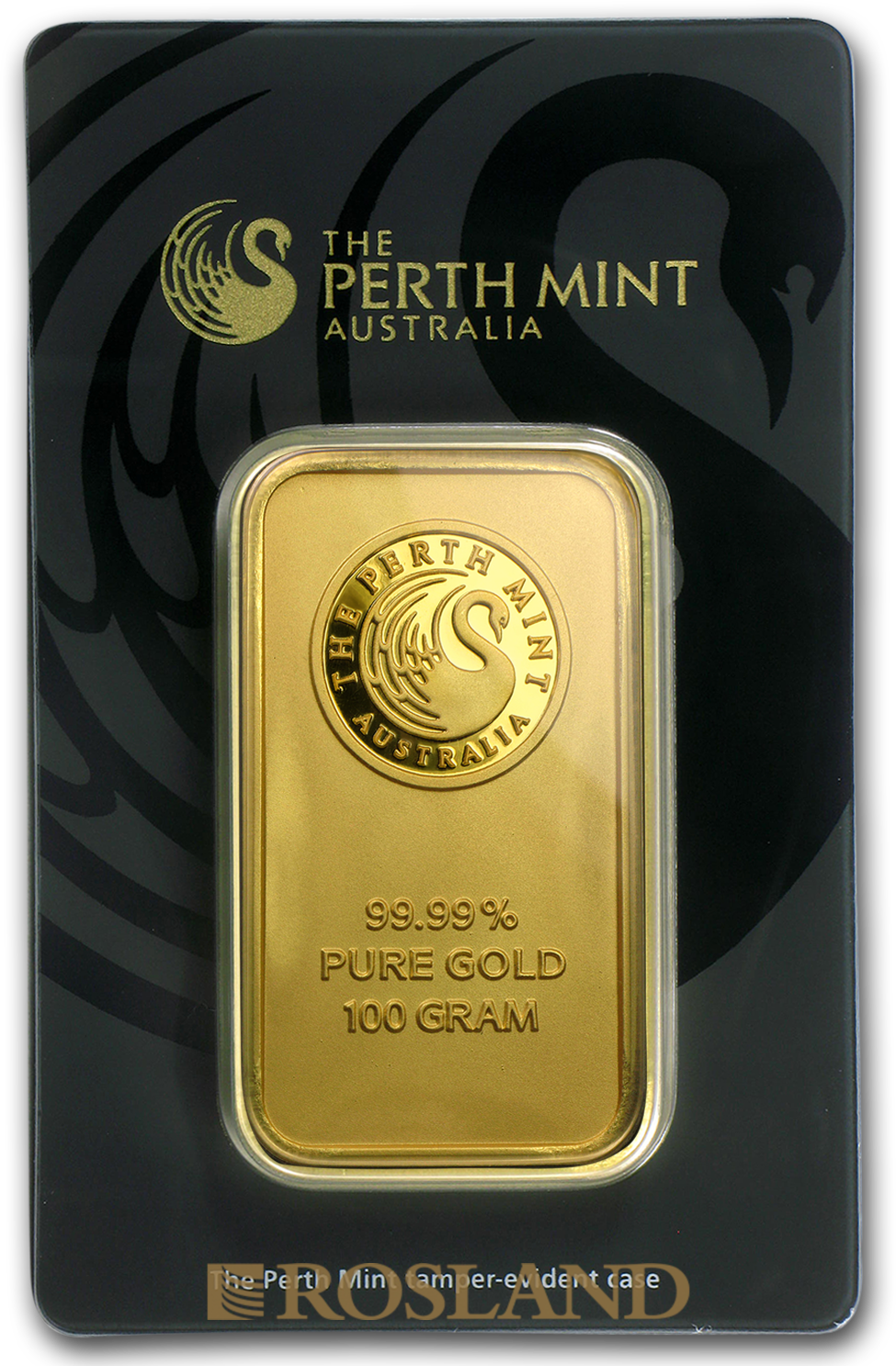 100 Gramm Goldbarren Perth Mint