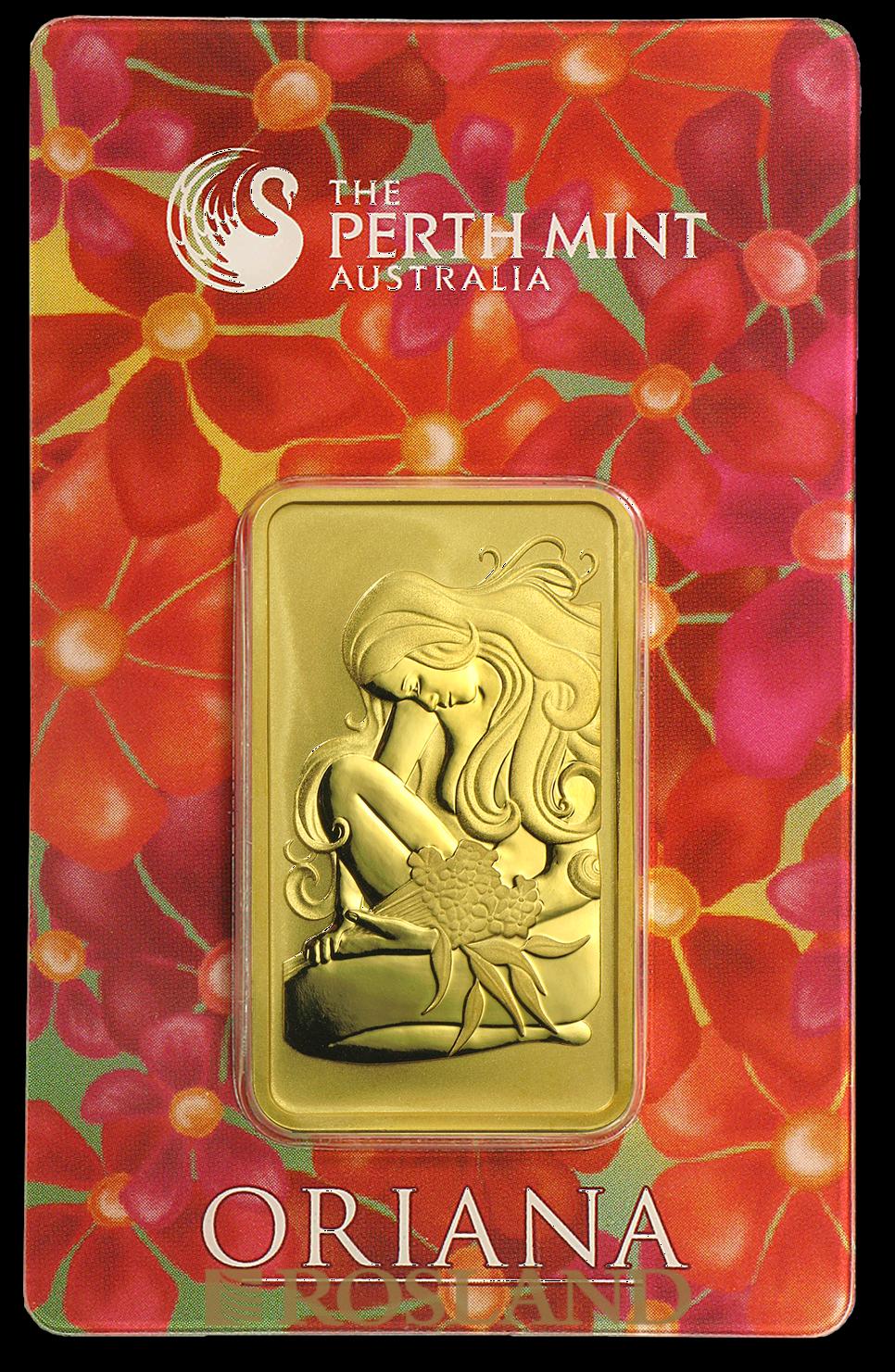 1 Unze Goldbarren Perth Mint Oriana